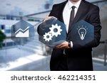 "glowing icon ""development"" in... | Shutterstock . vector #462214351"
