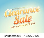 clearance sale with extra 50 ... | Shutterstock .eps vector #462222421