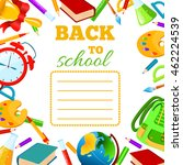 back to school cover for... | Shutterstock .eps vector #462224539
