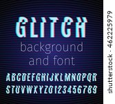 vector glitch background and... | Shutterstock .eps vector #462225979