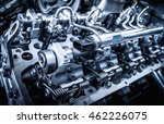 the powerful engine of a car.... | Shutterstock . vector #462226075