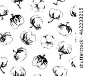 seamless pattern with cotton.... | Shutterstock .eps vector #462233215