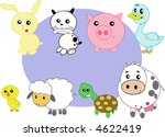 vector set   stylized domestic... | Shutterstock . vector #4622419