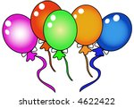 colorful balloons on a white... | Shutterstock . vector #4622422