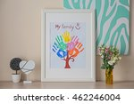 Family Hand Prints In Frame And ...