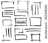 hand drawn ink square frames....   Shutterstock .eps vector #462248281