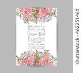 wedding invitation template...   Shutterstock .eps vector #462251461
