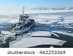Ship On Lake Baikal. Listvyank...