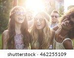 girls dancing at the festival | Shutterstock . vector #462255109