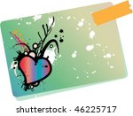 note with heart   Shutterstock .eps vector #46225717
