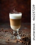 coffee latte in a tall glass | Shutterstock . vector #462257239