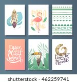 vector set of bright summer... | Shutterstock .eps vector #462259741