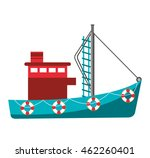 fishing boat industry icon... | Shutterstock .eps vector #462260401