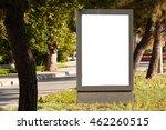 vertical blank billboard on the ... | Shutterstock . vector #462260515