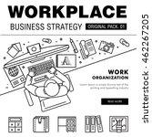 modern workplace business... | Shutterstock .eps vector #462267205