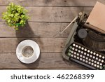 vintage typewriter on the old... | Shutterstock . vector #462268399