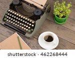 vintage typewriter on the old... | Shutterstock . vector #462268444