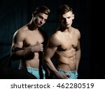 two young male twins with sexy... | Shutterstock . vector #462280519