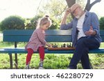 grandfather and granddaughter... | Shutterstock . vector #462280729