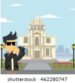rocker in les invalides | Shutterstock .eps vector #462280747