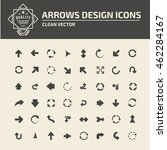 arrow sign icon set vector | Shutterstock .eps vector #462284167