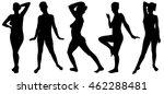 set of posing women isolated | Shutterstock .eps vector #462288481