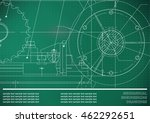 vector drawing. mechanical... | Shutterstock .eps vector #462292651