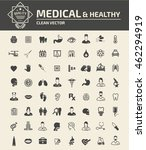 medical   healthy care icon set ... | Shutterstock .eps vector #462294919