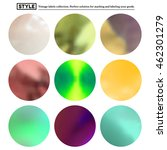 set of colorful blurred round... | Shutterstock . vector #462301279