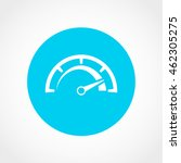 speedometer icon isolated on...