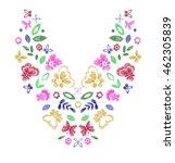 floral pattern   neck line... | Shutterstock .eps vector #462305839