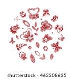 set of floral  design elements... | Shutterstock .eps vector #462308635