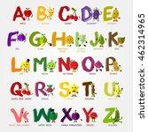 fruits and vegetables alphabet... | Shutterstock .eps vector #462314965