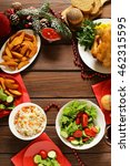 traditional food for christmas... | Shutterstock . vector #462315595