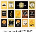 big autumn sale. happy fall y... | Shutterstock .eps vector #462321805
