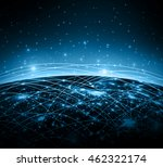best internet concept of global ... | Shutterstock . vector #462322174