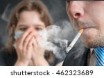 passive smoking concept. man is ... | Shutterstock . vector #462323689