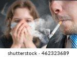 Passive Smoking Concept. Man I...