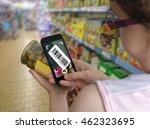 woman is shopping in... | Shutterstock . vector #462323695