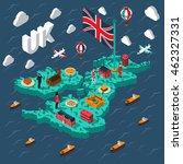 great britain touristic... | Shutterstock .eps vector #462327331