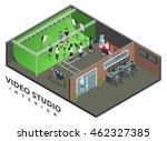 professional live video... | Shutterstock .eps vector #462327385