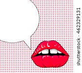 Illustration With Speech Bubbl...