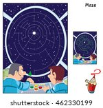 chart the course to a big star. ... | Shutterstock .eps vector #462330199
