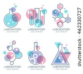 laboratory design elements ... | Shutterstock .eps vector #462330727