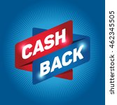 cash back arrow tag sign icon. | Shutterstock .eps vector #462345505
