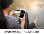weekend trendy lifestyle. woman ... | Shutterstock . vector #462346285