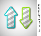 two arrow with rounded corners. ... | Shutterstock .eps vector #462353971