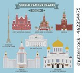 famous places of moscow  russia.... | Shutterstock .eps vector #462354475