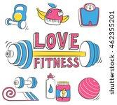 fitness lifestyle design.... | Shutterstock .eps vector #462355201
