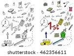 back to school illustrations... | Shutterstock .eps vector #462356611